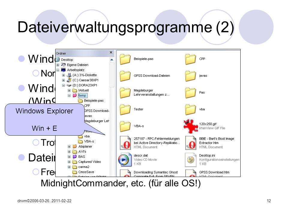 Dateiverwaltungsprogramme (2)