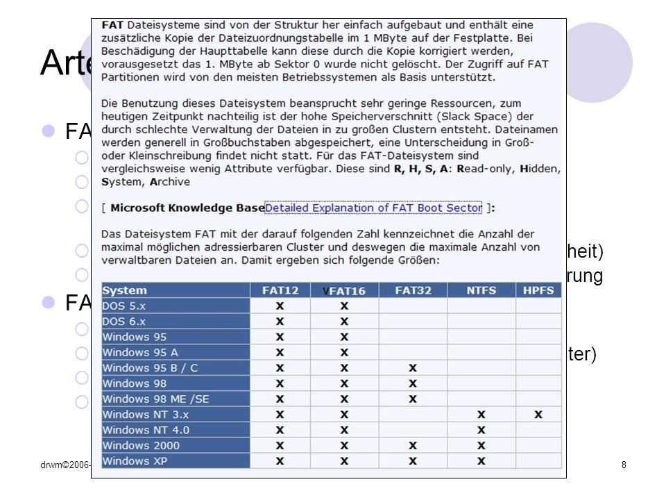 Arten von Dateisystemen (1)
