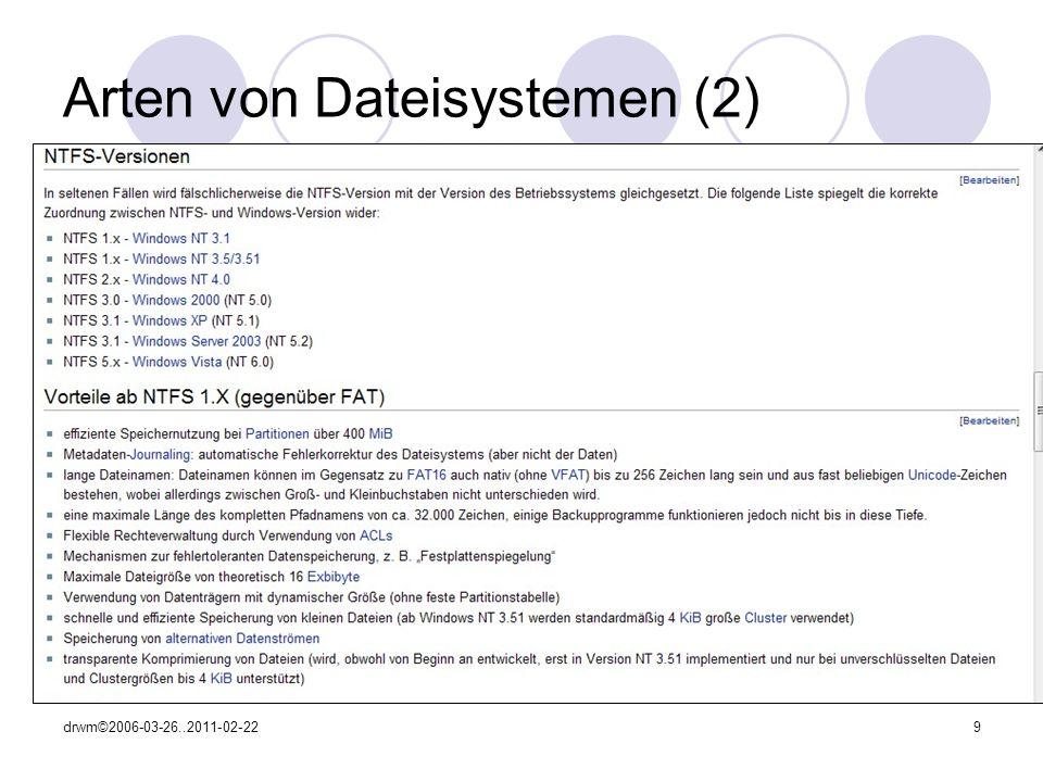 Arten von Dateisystemen (2)