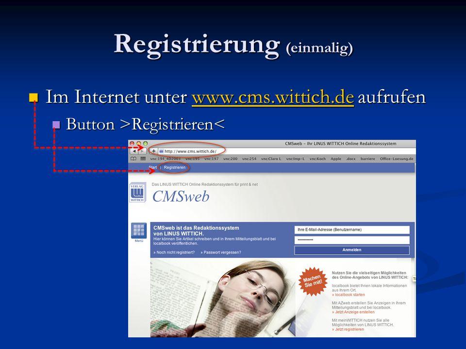 Registrierung (einmalig)