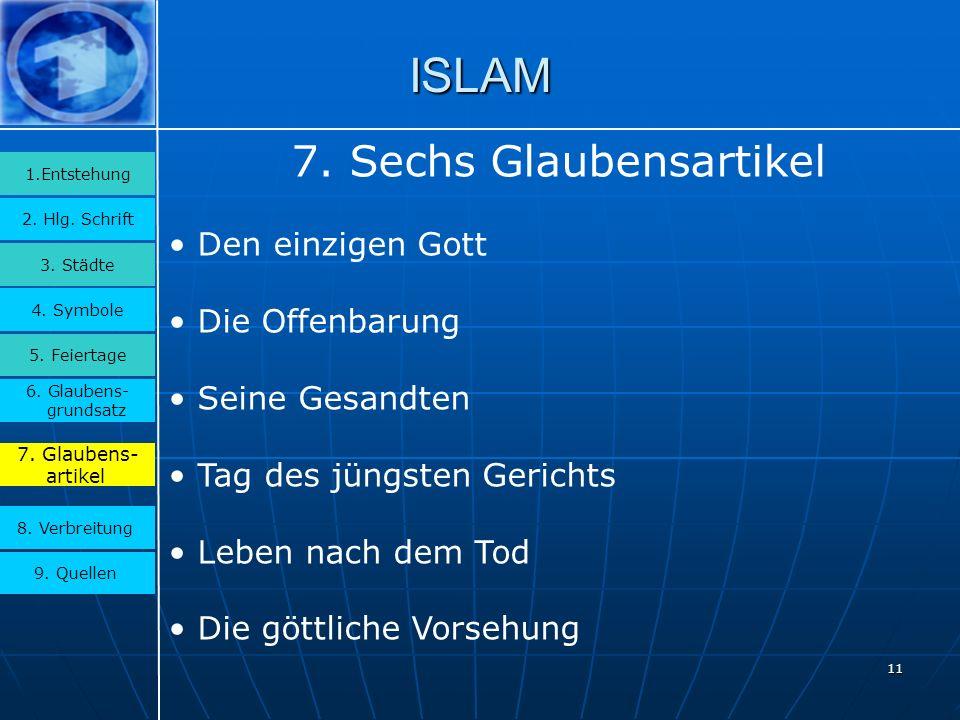 7. Sechs Glaubensartikel