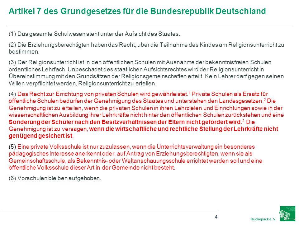 Artikel 7 des Grundgesetzes für die Bundesrepublik Deutschland
