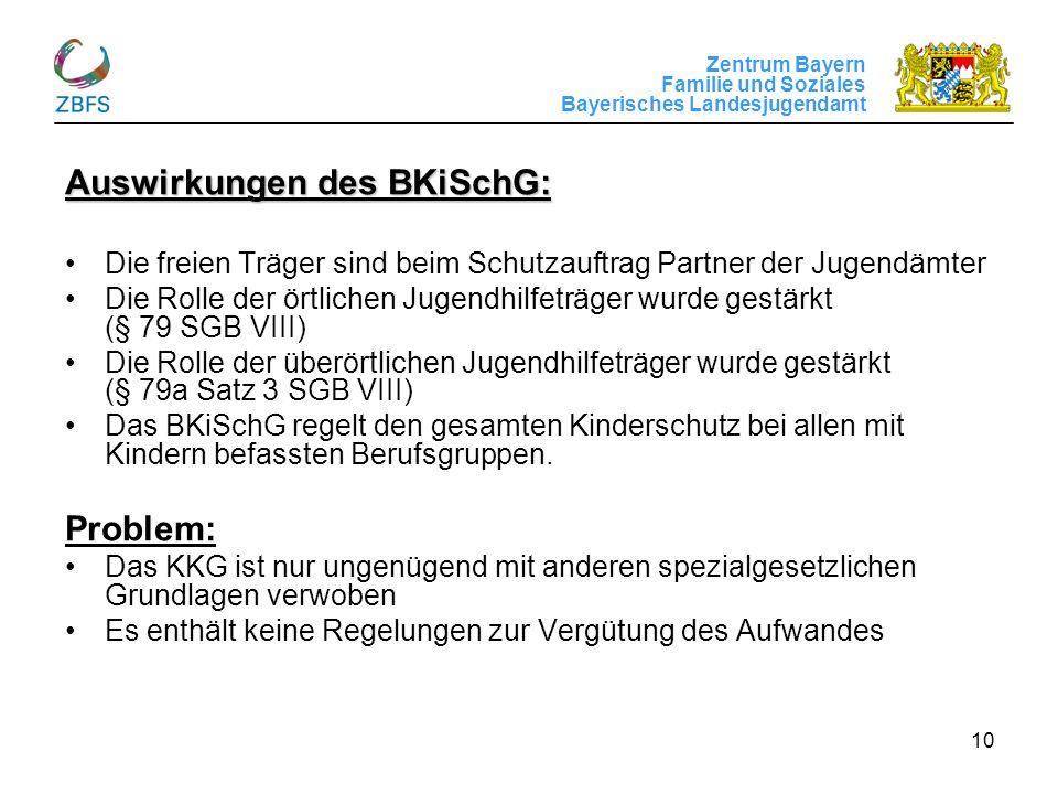Auswirkungen des BKiSchG: