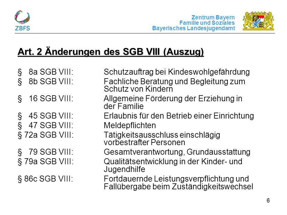 Art. 2 Änderungen des SGB VIII (Auszug)
