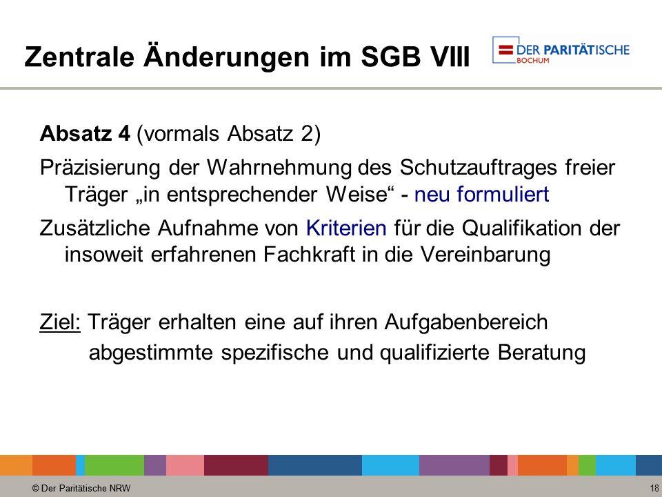 Zentrale Änderungen im SGB VIII