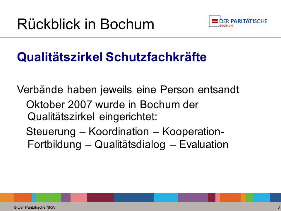 Rückblick in Bochum Qualitätszirkel Schutzfachkräfte