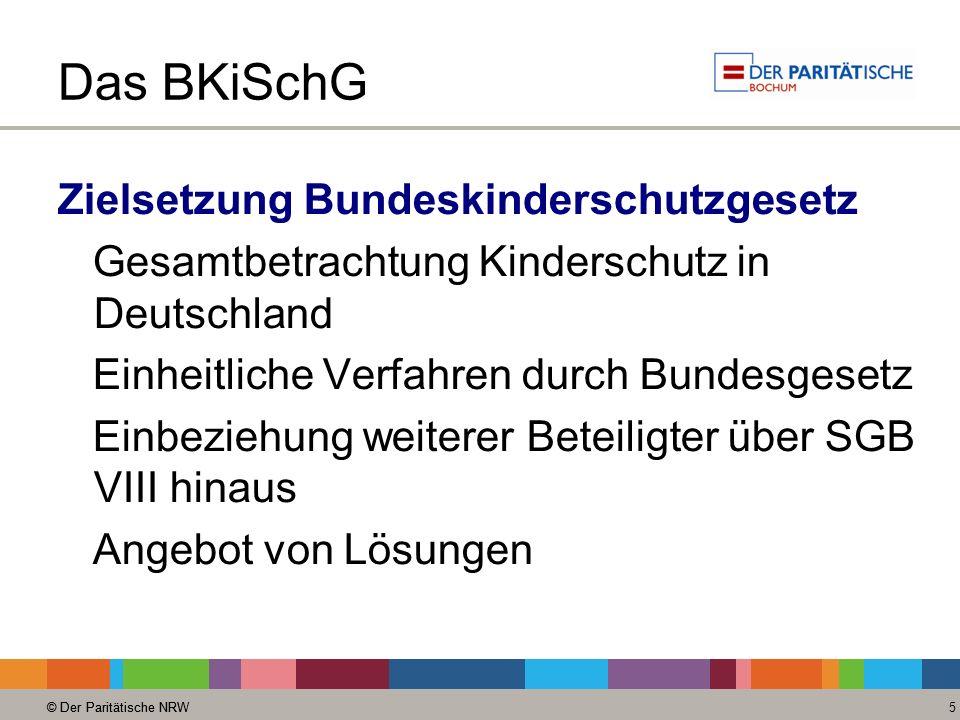 Das BKiSchG Zielsetzung Bundeskinderschutzgesetz