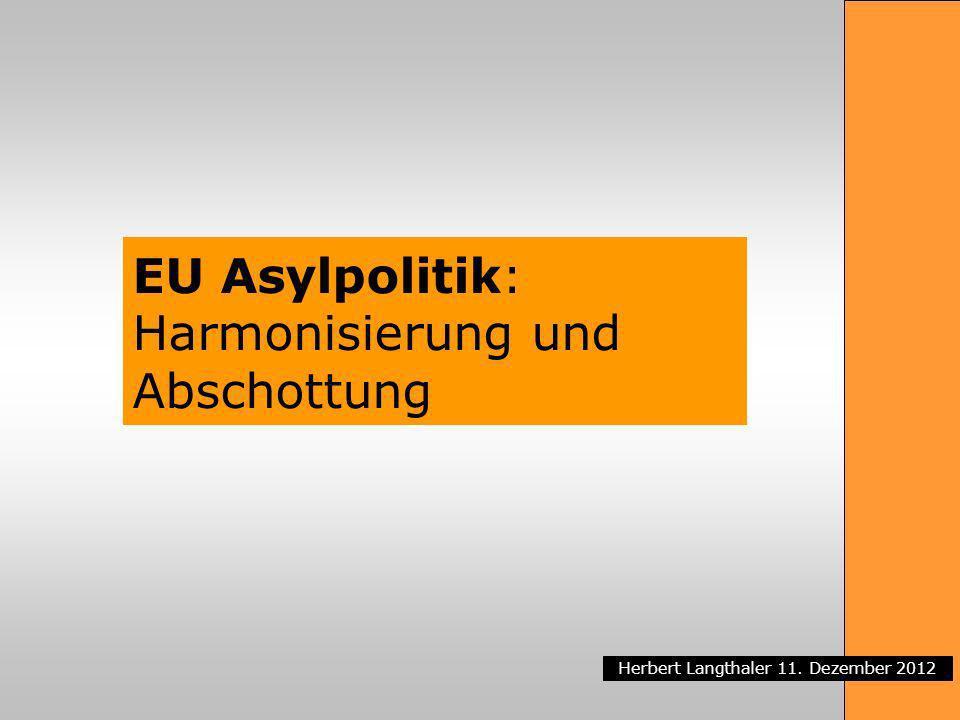 EU Asylpolitik: Harmonisierung und Abschottung