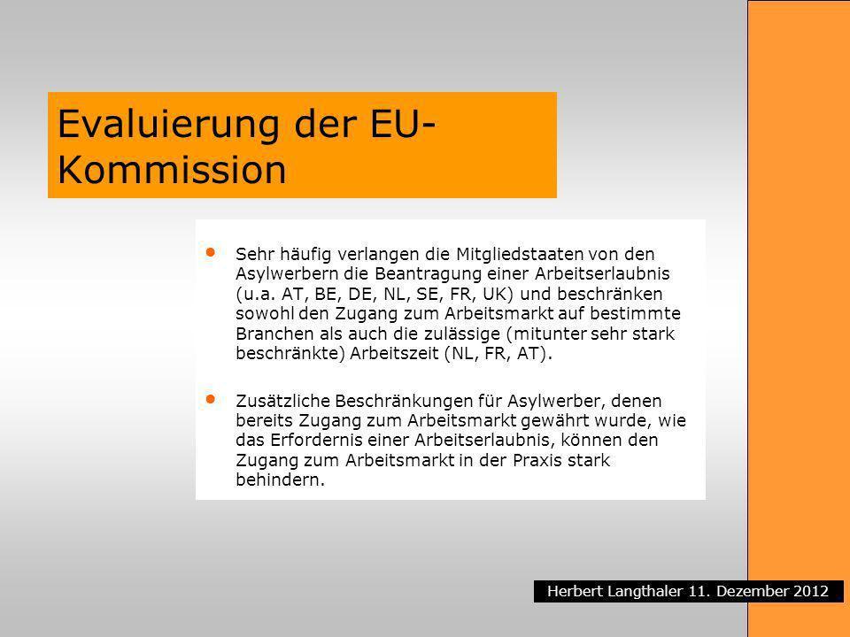 Evaluierung der EU-Kommission