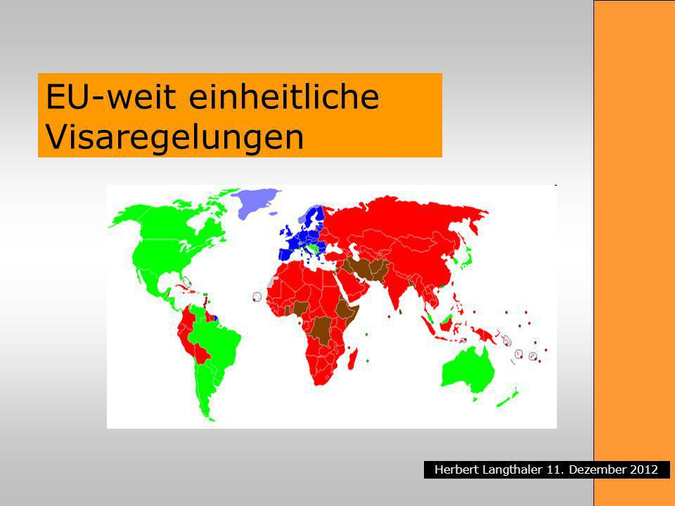 EU-weit einheitliche Visaregelungen
