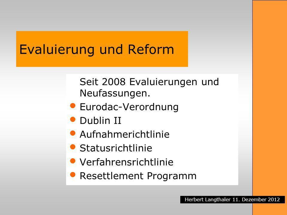 Evaluierung und Reform
