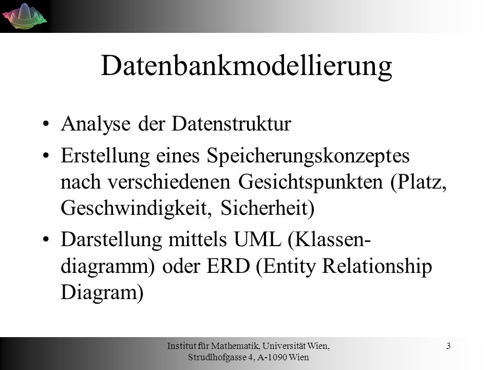 Datenbankmodellierung