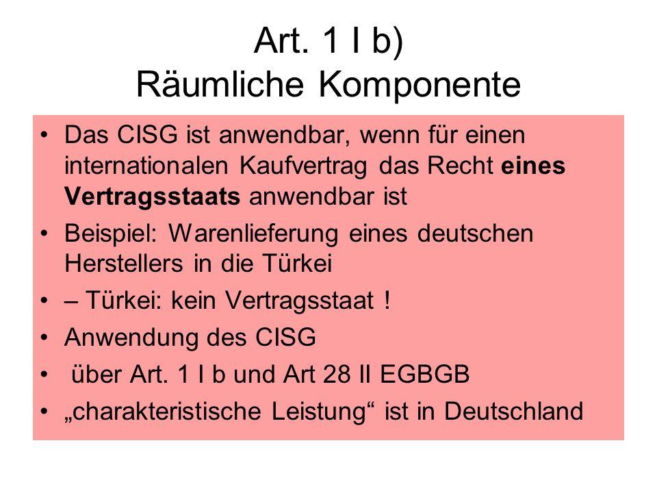Art. 1 I b) Räumliche Komponente