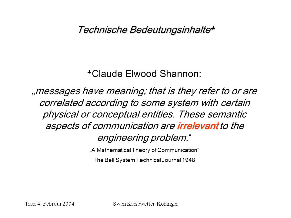 Technische Bedeutungsinhalte