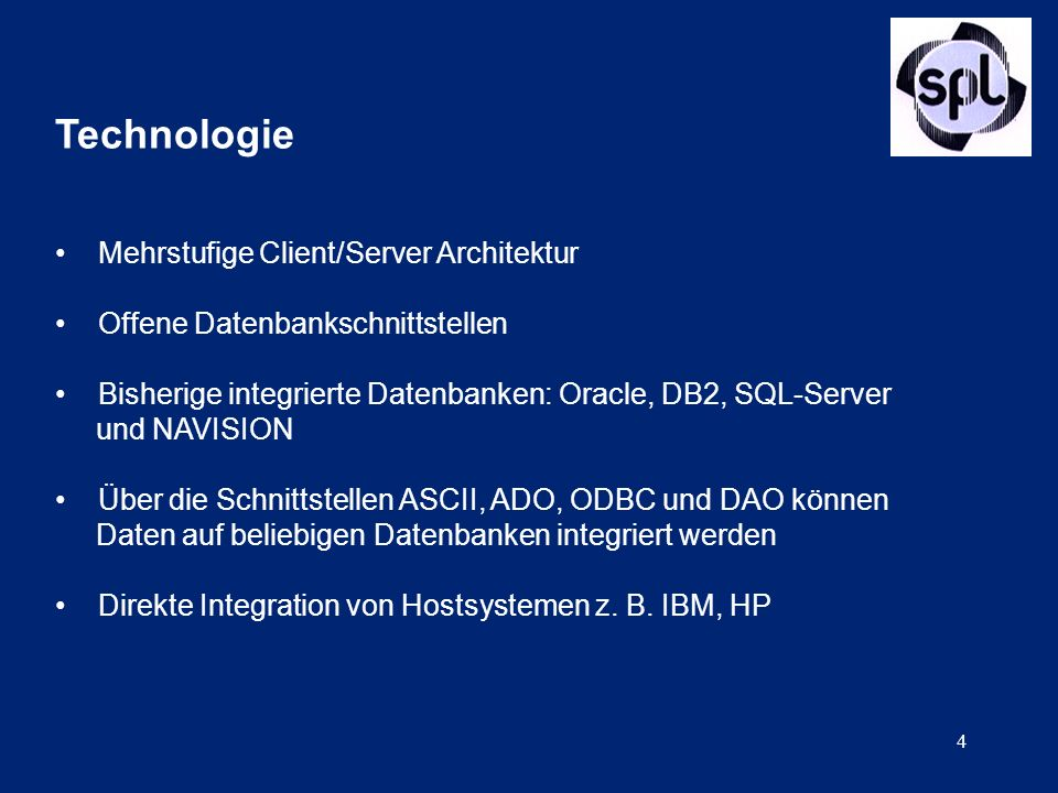 Technologie Mehrstufige Client/Server Architektur