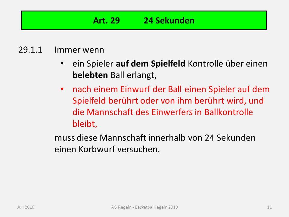 Art. 50 Pflichten des 24-Sekunden-Zeitnehmers (1 von 2)