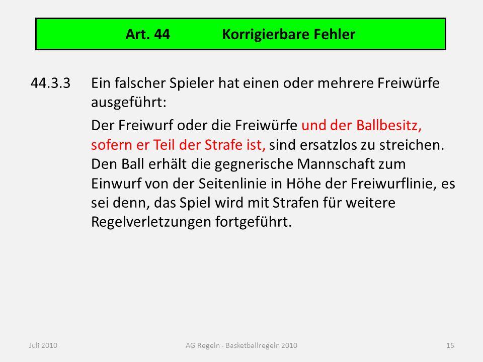 Art. 46 Pflichten und Rechte des 1. Schiedsrichters