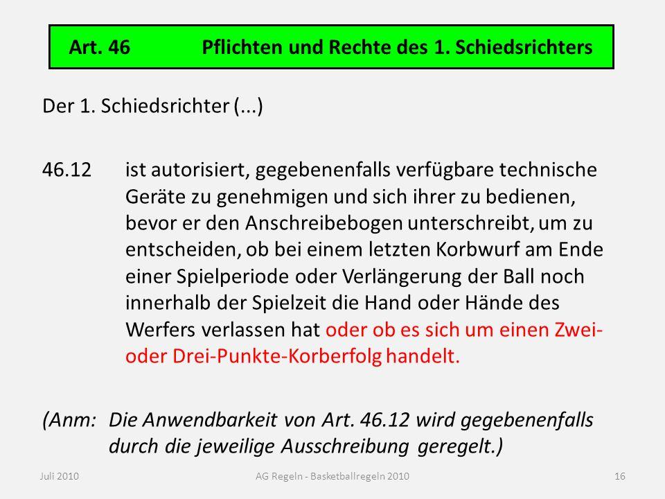 Technische Ausrüstung: Art. 9 Anzeigetafel