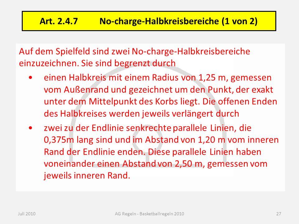 Art. 2.4.7 No-charge-Halbkreisbereiche (2 von 2)
