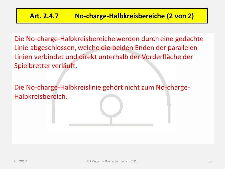 Art. 33.10 No-charge-Halbkreisbereich