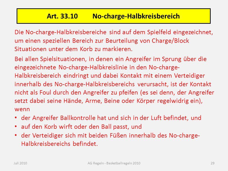 No-charge-Halbkreisbereich: Verteidiger innerhalb/außerhalb