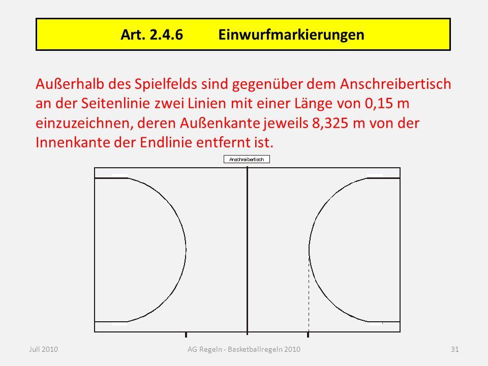 AG Regeln - Basketballregeln 2010