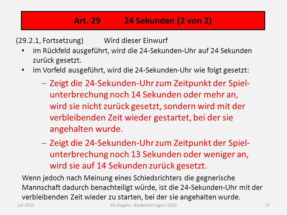 Art. 29 24/14- Sekunden: Übersicht als Flussdiagramm