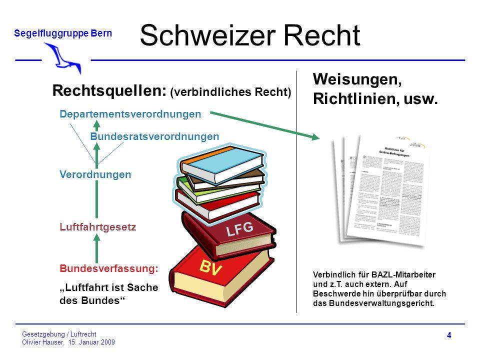 Schweizer Recht Weisungen, Richtlinien, usw.