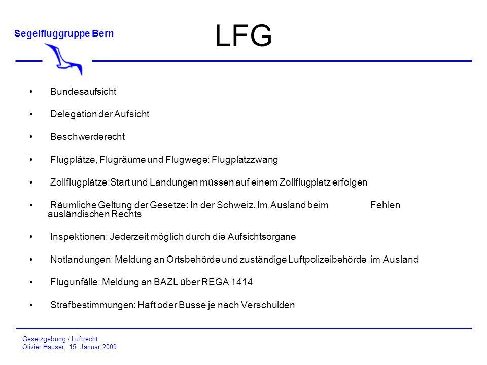 LFG Bundesaufsicht Delegation der Aufsicht Beschwerderecht