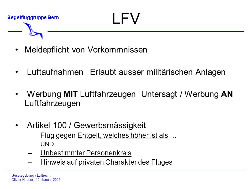 LFV Meldepflicht von Vorkommnissen