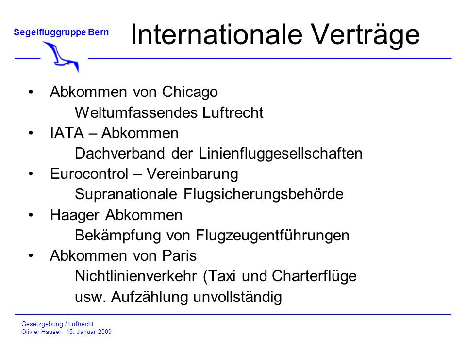 Internationale Verträge