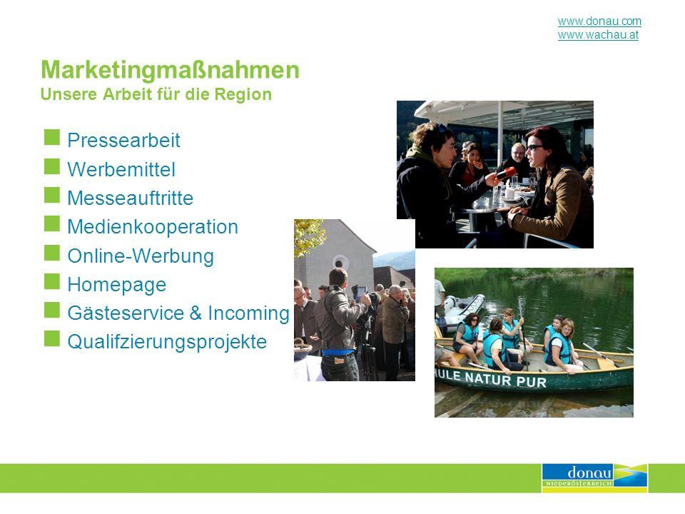 Marketingmaßnahmen Unsere Arbeit für die Region