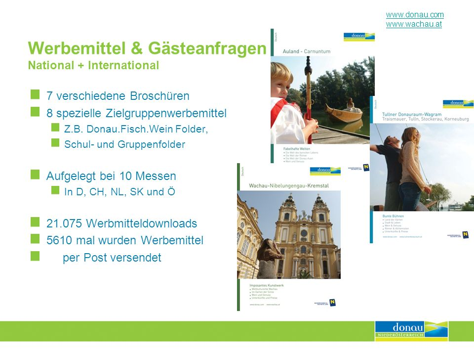 Werbemittel & Gästeanfragen National + International