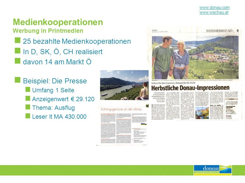 Medienkooperationen Werbung in Printmedien