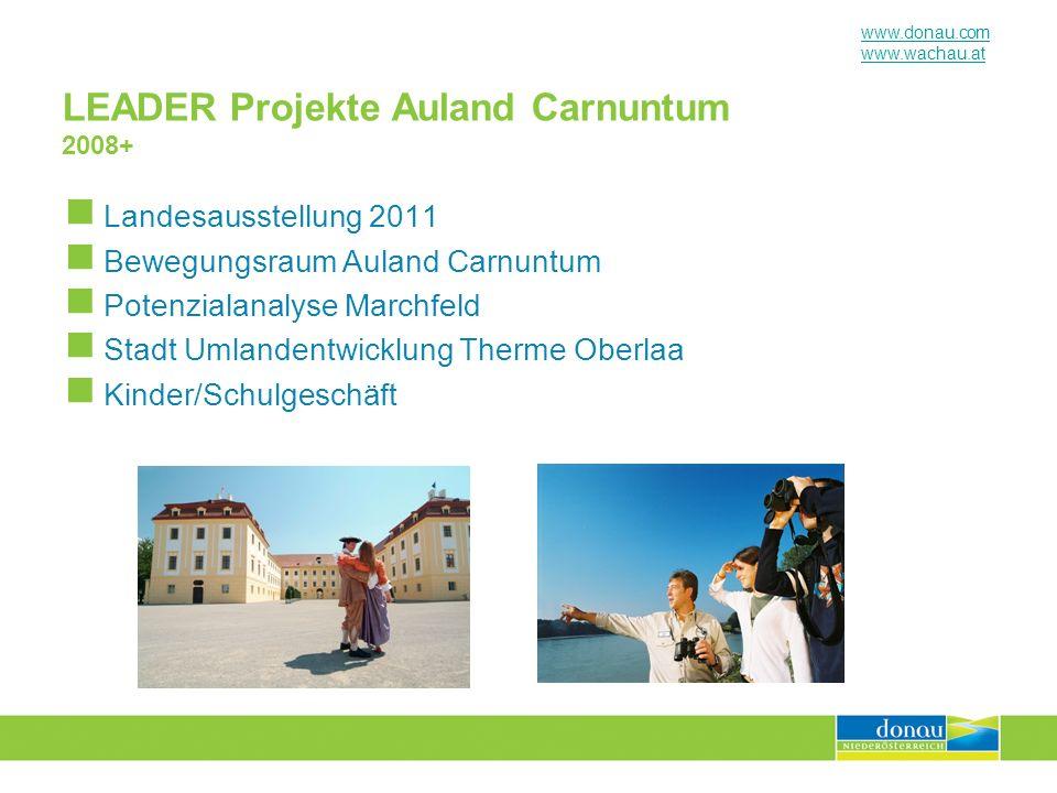 LEADER Projekte Auland Carnuntum 2008+