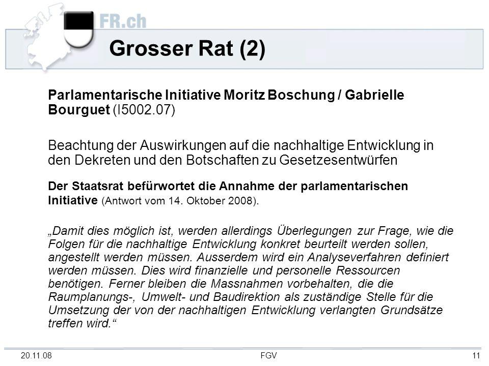 Grosser Rat (2) Parlamentarische Initiative Moritz Boschung / Gabrielle Bourguet (I5002.07)