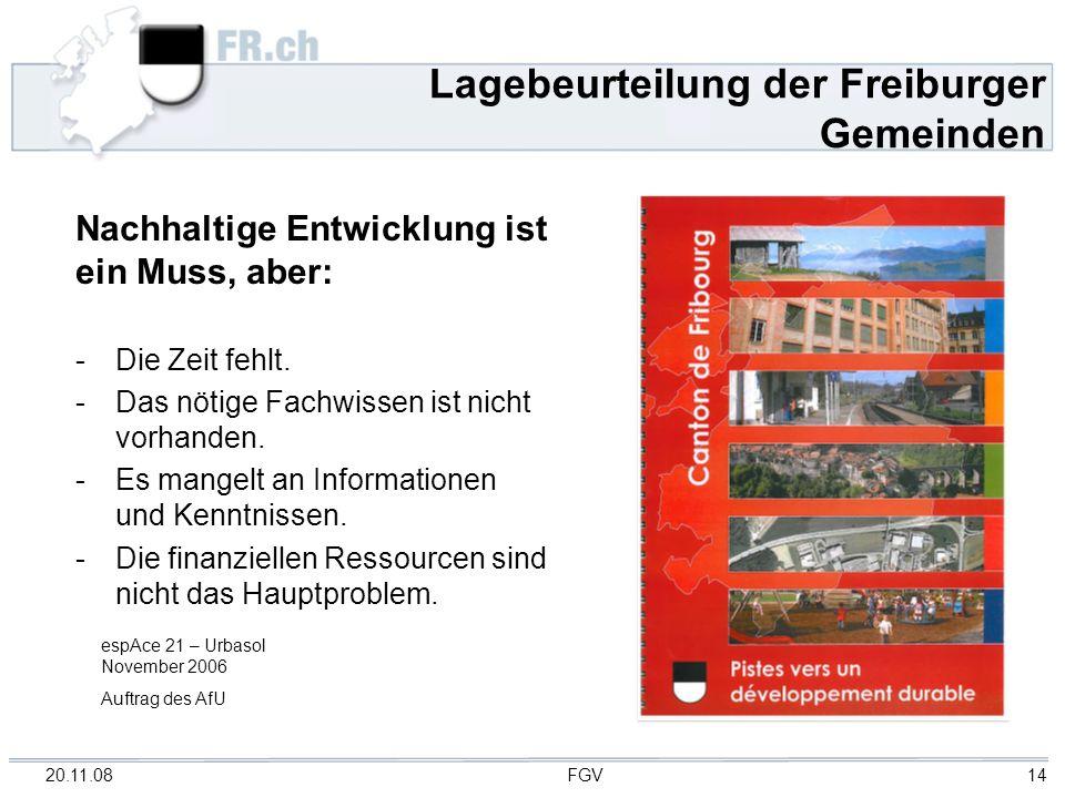 Lagebeurteilung der Freiburger Gemeinden