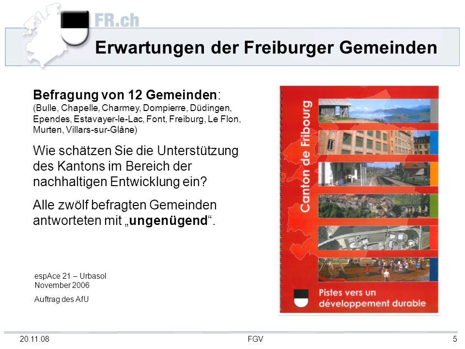 Erwartungen der Freiburger Gemeinden