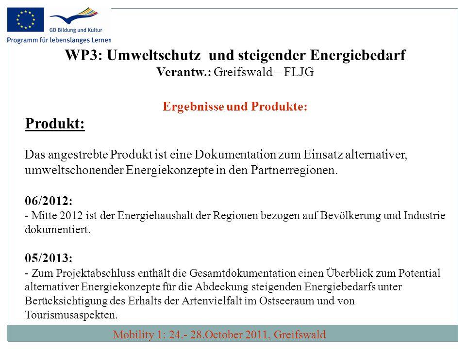 WP3: Umweltschutz und steigender Energiebedarf