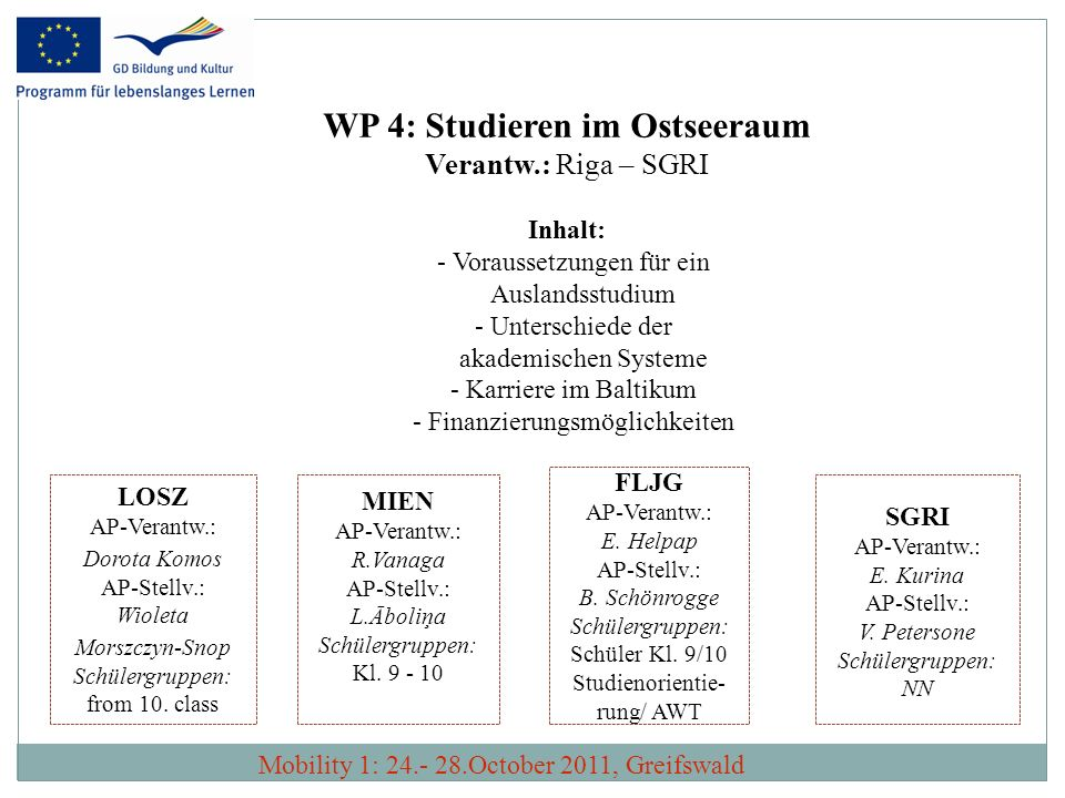 WP 4: Studieren im Ostseeraum