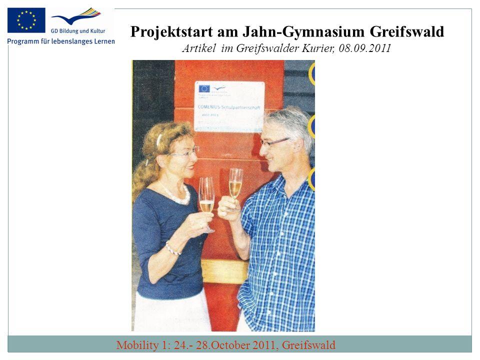 Projektstart am Jahn-Gymnasium Greifswald