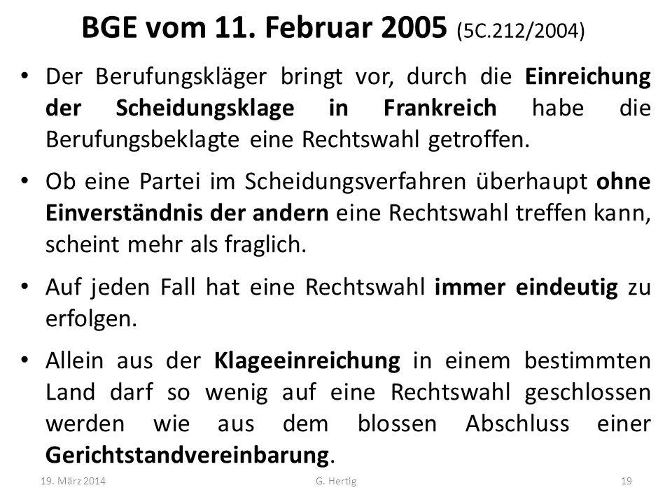 BGE vom 11. Februar 2005 (5C.212/2004)