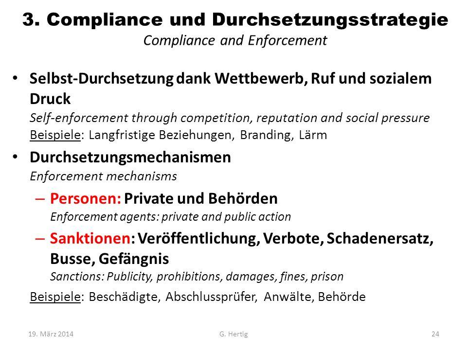 3. Compliance und Durchsetzungsstrategie Compliance and Enforcement