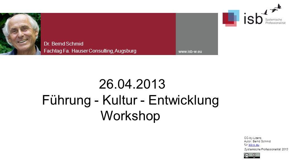 26.04.2013 Führung - Kultur - Entwicklung Workshop