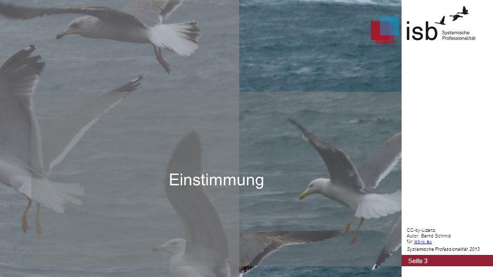 Einstimmung CC-by-Lizenz, Autor: Bernd Schmid für isb-w.eu