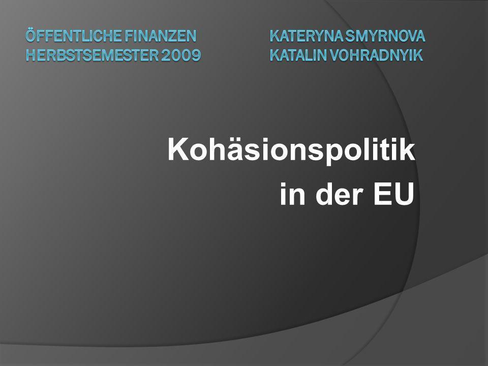 Kohäsionspolitik in der EU