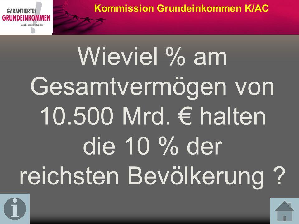Wieviel % am Gesamtvermögen von 10.500 Mrd. € halten