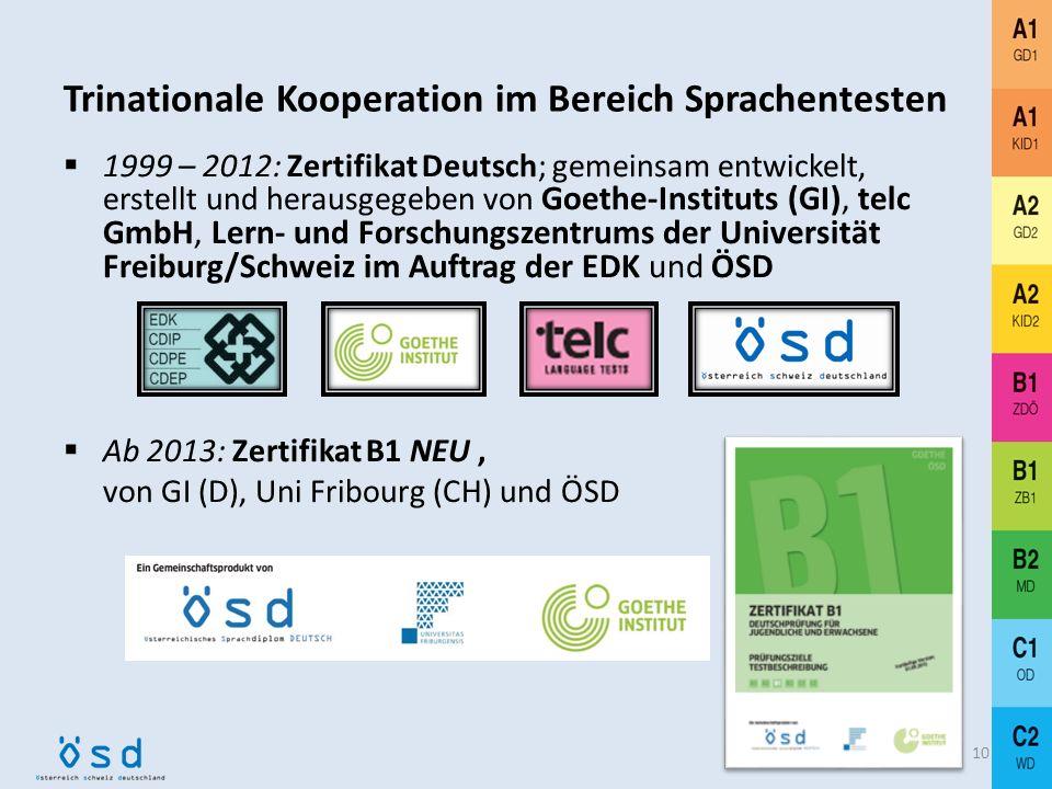 Trinationale Kooperation im Bereich Sprachentesten
