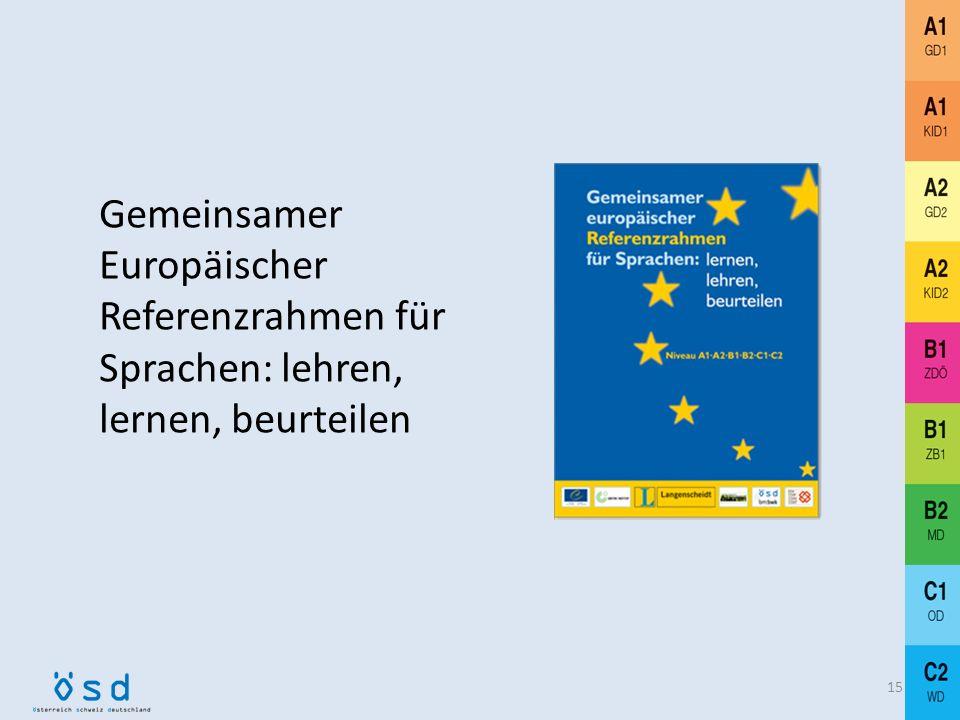 Gemeinsamer Europäischer Referenzrahmen für Sprachen: lehren, lernen, beurteilen