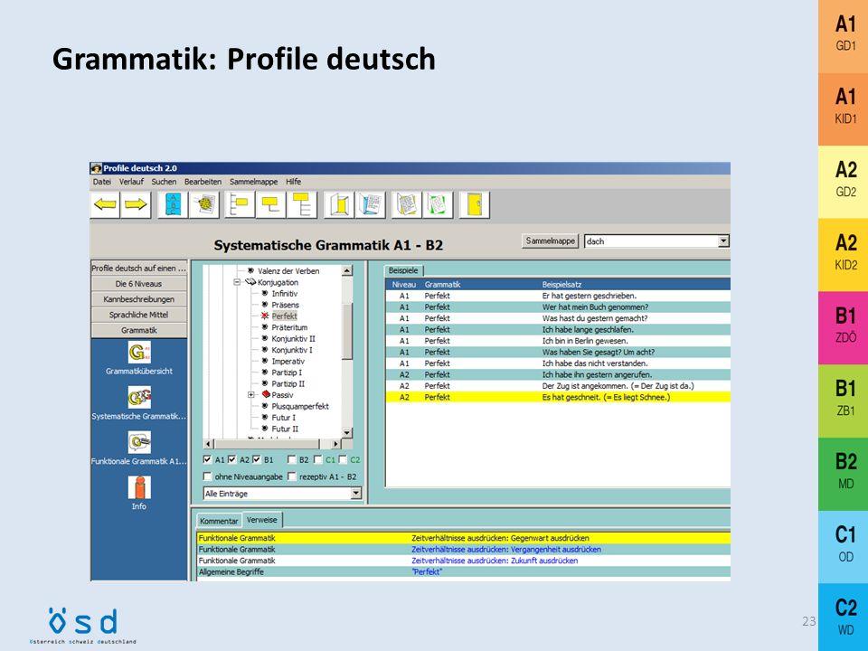 Grammatik: Profile deutsch